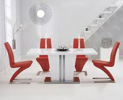 contemporary style furniture. save was now white high gloss dining table brings chic contemporary style to your area comfortably seating up 8 diners the modern furniture