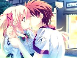 cute anime couple wallpaper 177428