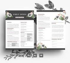Resume + Cover Letter + Business Card / 3 Page Resume/ Easy Editable ...