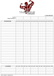 log book template bodybuilding log book templates free download