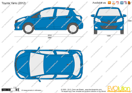 The-Blueprints.com - Vector Drawing - Toyota Yaris