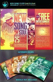Concert Flyer Template For Word New Song Gospel Concert Flyer Template Church Flyers Book Word