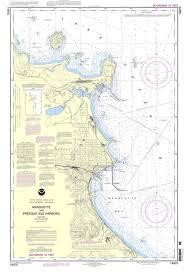 Ocean Charts Noaa Nautical Chart 14970 Marquette And Presque Isle