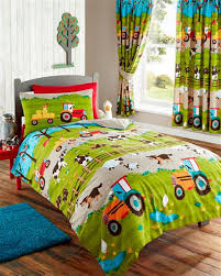 farm animals tractor kids duvet cover or matching curtains bedding bed set