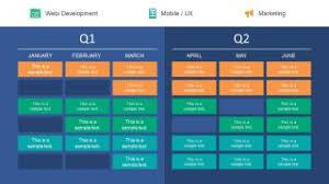 Quarter Roadmap Plan Powerpoint Template Slidemodel