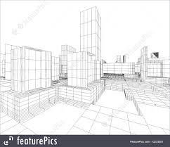 architecture blueprints skyscraper. Architecture: 3d Image Of City Map With Skyscraper And Street Architecture Blueprints