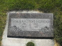Edna Augusta Matthews Shepherd (1892-1985) - Find A Grave Memorial