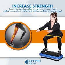<b>Whole Body</b> Workout <b>Vibration</b> Fitness <b>Platform</b> w/Loop Bands ...