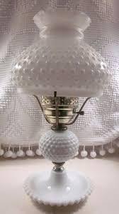 antique milk glass lamp large hobnail milk glass lamp by vintage white milk glass oil lamp