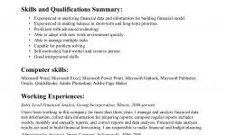 financial analyst goals examples retail cashier resume