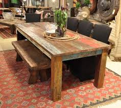 vintage multicolor 107 dining table rustic dining room new york by