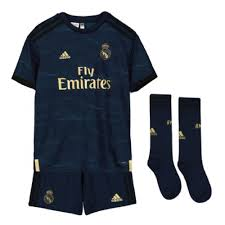 2019 2020 Real Madrid Adidas Away Full Kit Kids
