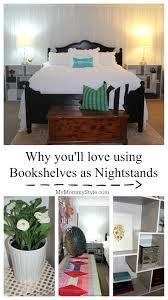 bookshelves as nightstands sauder mymommystyle master bedroom bookshelves as nightstands