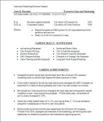 Sales And Marketing Resume Samples Interesting Sales And Marketing Resumes Executive Resume Sample Sales Marketing