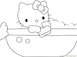 coloring pages bathtub coloring pages bathtub hello kitty in bathtub coloring page free dot to dot
