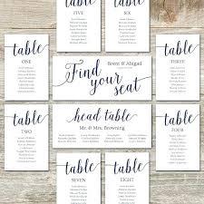 Free Editable Wedding Seating Chart Template Printable Night Lights