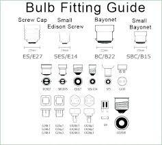 standard light bulb base size lighting