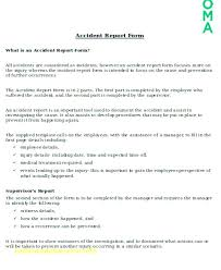 Injury Incident Report Template Adorable Employee Incident Report Template Simple Resume Examples For Jobs