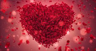 romantic flying red rose flower petals love heart wedding background for st valentines day mother s day wedding anniversary greeting cards