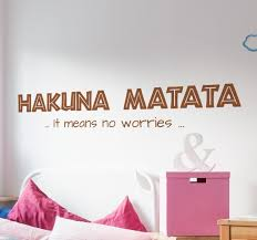 Hakuna Matata Wandtattoo Tenstickers