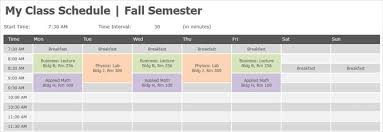Planner Schedule Template 15 Checklist Schedule And Planner Templates For Students