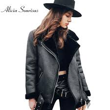 leather jacket with fur women fur coat winter leather jacket women black lamb fur short motorcycle