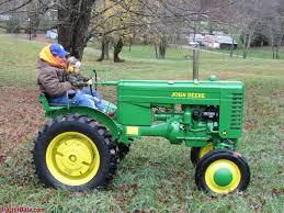 john deere tractor. john deere model m, right side. tractor