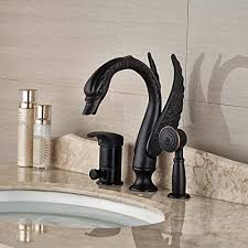 oil rubbed bronze tub faucet. Interesting Bronze Senlesen Swan Shape Oil Rubbed Bronze Bathroom Tub Faucet With Hand Shower  Sprayer Mixer For D
