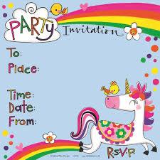 part invites rachel ellen designs unicorn party invites from ocado