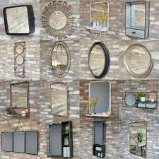 black metal wall mirror rustic wooden