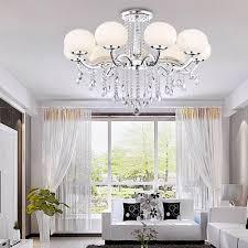 lightinthebox european mini style elegant luxury 9 light crystal chandelier modern ceiling light fixture for dining room bedro om living room wall s