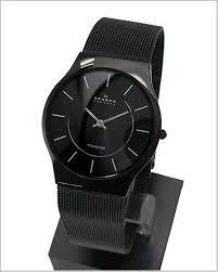 bell field rakuten global market ultra slim skagen skagen ultra slim skagen skagen men s watch titanium black ip mesh belt