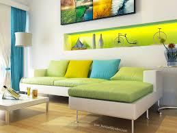 Modern White Green Aqua Blue Living Room Interior Design Ideas