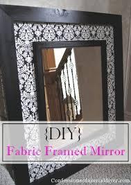 diy mirror frame. Brilliant Mirror DIY Fabric Framed Mirror To Diy Frame E