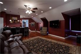 Media Room with Wet Bar traditional home theater paint colors ideas