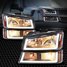 Lights For 2006 Chevy Silverado Black Housing For 2003 2006 Chevy Silverado Amber Headlight