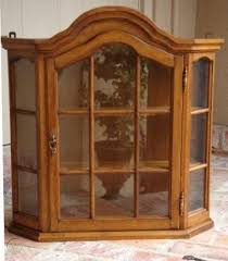 vintage english oak wood wall cabinet