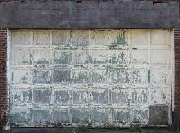 grungy and decaying garage door texture