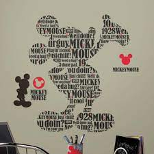 disney mickey mouse words wall sticker