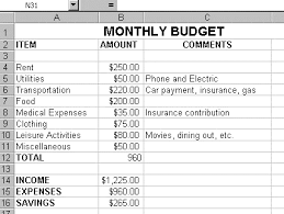 Sample Of Family Budget Budget Examples For Family