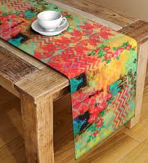 orange cotton table runner 71 inches