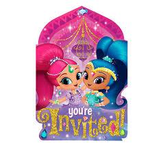 Invitaciones Cumpleaños Shimmer Y Shine Comprar Online My Karamelli
