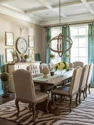 modern dining room of carpet rustic dining table fresh curtains