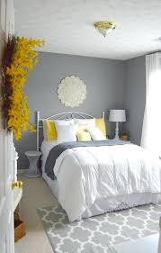 precious grey wall bedroom ideas yellow
