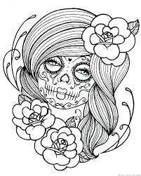 Day Of The Dead Coloring Pages Day Of The Dead Girl Coloring Pages
