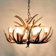antler chandelier for deer vintage 6 light chandeliers in kit deer antler chandelier