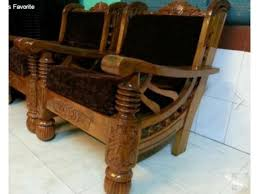 mysore teakwood wooden sofa set with cushion bengaluru karnataka india