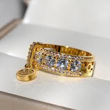 <b>New Arrival Vintage Rose</b> Gold Filled Wedding Rings For Women ...