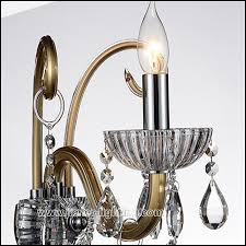 european style crystal wall lamp without shade 1 lamp
