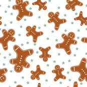 cute gingerbread background. Exellent Cute Scattered Gingerbread Men With Cute Background E